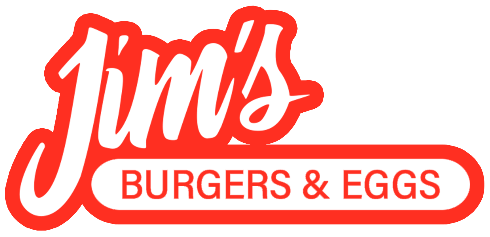 Jim's Burgers and Eggs Logo